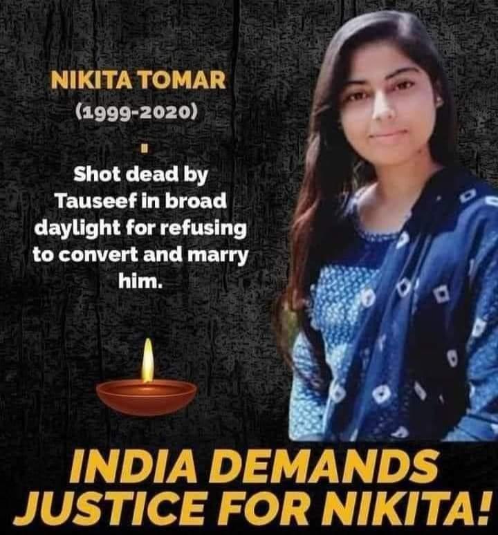 Nikita Tomar Love Jihad Murder Case