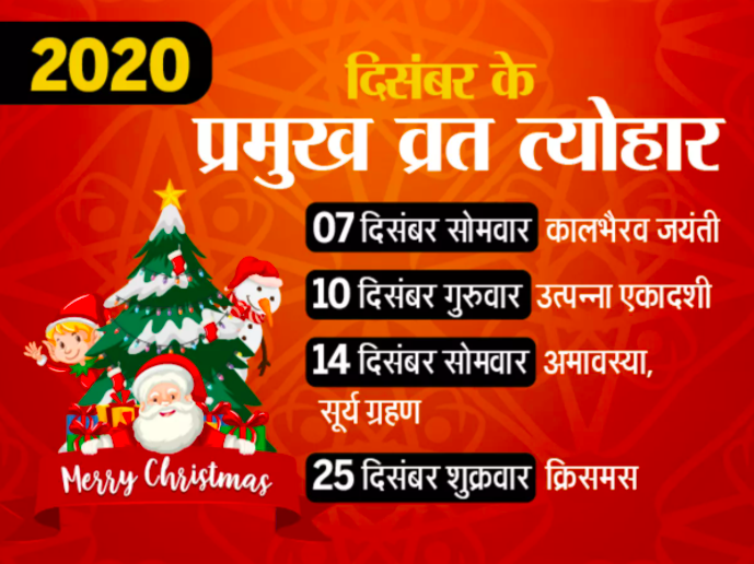December 2020 Vrat Tyohaar